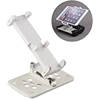 i.VALUX Foldable Extended Phone Tablet Stand Holder Remote Controller Bracket Monitor Mount Holder for DJI Mavic Pro Fit 5.5 Phone or 4 - 9.7 Tablet - White