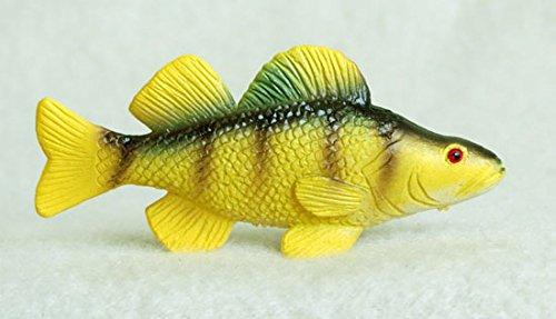 Yellow Perch Plastic Fish realistic 2 7/8 inches long - F3433 B89 (Long Perch)
