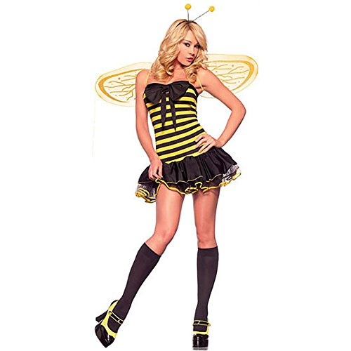 Sexy Bumble Bee Costume - Women's Sexy Bumble Bee Halloween Costume (Size: Medium 10-12)