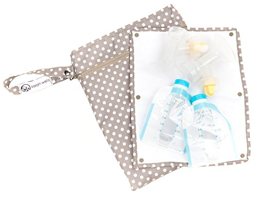 sarah-wells-pumparoo-for-breast-pump-parts-wet-dry-bag-with-staging-mat-greige