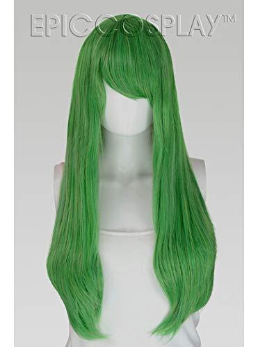 EpicCosplay Nyx Long Straight Wig (Clover Green) ()