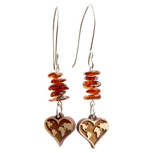 - SatinCrystals Amber Earrings 3