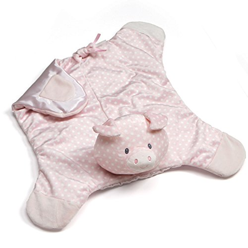 GUND Baby Roly Polys Pig Comfy Cozy Blanket Stuffed Animal Plush Toy, Pink, 24