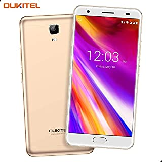 "OUKITEL OK6000 Plus Unlocked Cell Phones, 5.5"" FHD 6080mAh Big Battery Unlocked Smartphones, 4GB RAM+64GB ROM Dual SIM Android 7.0 Octa Core Unlocked Phones Fingerprint - Black (Gold2)"