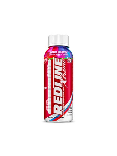 VPX Redline Xtreme Energy Ready to Drink, Sour Heads 8-Ounce Bottle, 24 Count ()