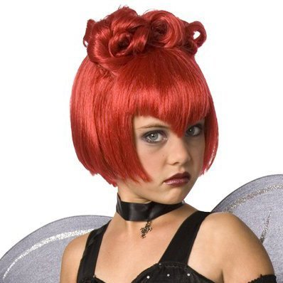 Costume National Batty Princess Red Wig- Adult (National Fancy Dress Costumes)