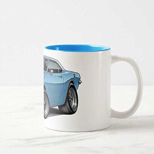 Zazzle 1967-69 Barracuda Lt Blue Coupe Coffee Mug, Light Blue Two-Tone Mug 11 oz (Barracuda Coupe)