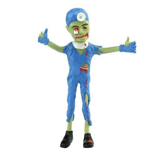 Action Figures - Zombie Brain Surgeon 6 Bendable Rubber Toys New otw-4203