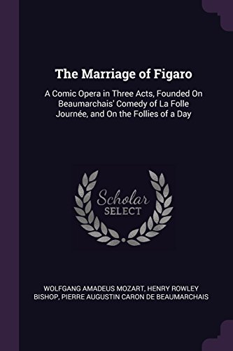 The Marriage of Figaro: A Comic Opera in Three Acts, Founded On Beaumarchais