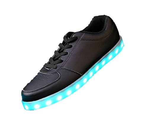Present Charging fo Changing Black Shoes small USB Unisex luminous Flashing LED Color 7 towel JUNGLEST® Sneakers Sport AqAngZr