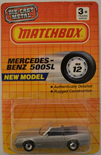 HWz Mercedes-Benz 500 SL Gray Matchbox MBX Motorcity Series 1:64 Scale Collectible Die Cast Model Car