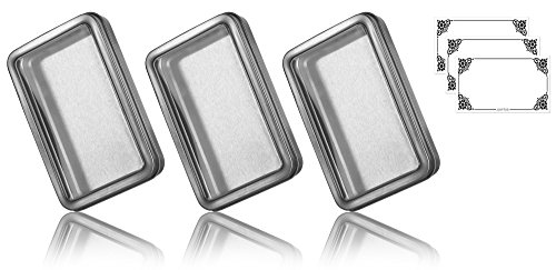 Clear Window Large Hinge Tin Case - 3 PACK (5.5