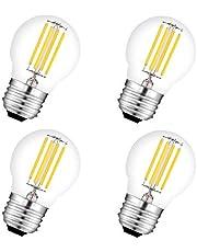 Bombilla LED G45 E27 Filamento 4W Equivalencia 40W,450lm Cristal Vintage,Mini Bombilla Globo 4 Unidades