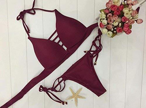 Zhrui Claret L Bain Bikini Taille De coloré Deux Maillot Nouveau Pièces 1qUwr1