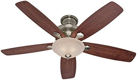 Hunter Regalia 60-in Brushed Nickel Downrod or Close Mount Ceiling Fan