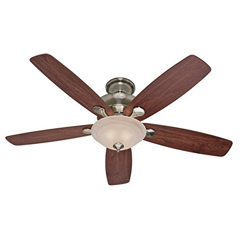 Hunter Regalia 60-in Brushed Nickel Indoor Downrod Or Close Mount Ceiling Fan with Light Kit Review