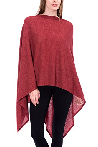 1381dd04857 Modern Kiwi Solid Long Knit Asymmetric Wrap Poncho Topper - Import ...