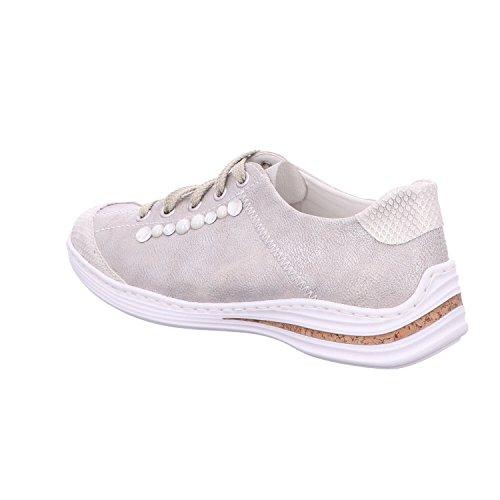 Scarpe Stringate frost Grigio Donna Rieker White Frost Silver white silver dg5qwZ