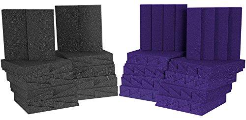 Auralex Acoustics D36-DST Roominator Acoustic Absorption Treatment Room Kit, Charcoal/Purple
