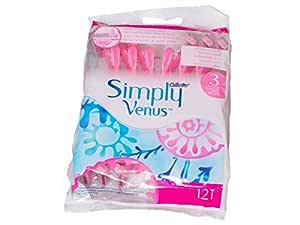 Gillette Simply Venus 12 pieces disposable razor women's shaver 8+4