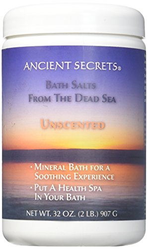 Ancient Secrets Dead Sea Bath Salts Unscented 2 (Aromatherapy Unscented Bath Salt)