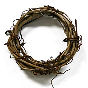 "Group of 36 Natural Dried Grapevine Wreath 3"" in Diameter for Crafting, Decorating, and Creating 56"