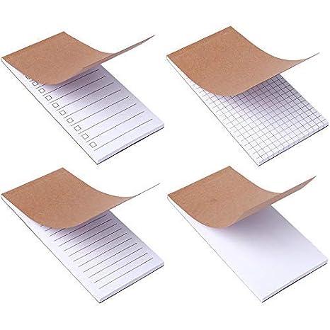 Amazon.com: Cuaderno de notas para hacer listas, 4 unidades ...
