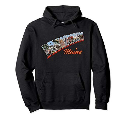 - Brunswick Maine ME Retro Vintage Pullover Hoodie