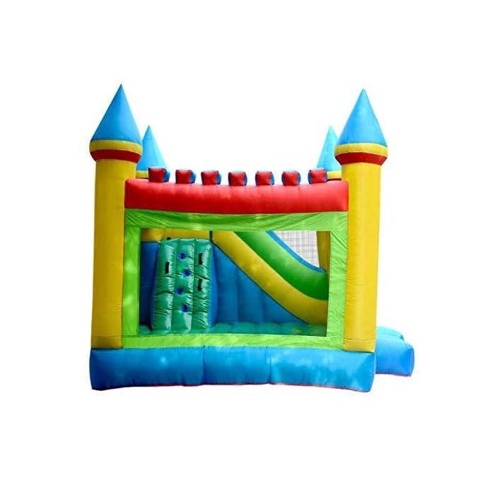 41mm%2BrJ%2BJHL ● 【Múltiples áreas de actividad】 : Este castillo inflable tiene forma de caricatura, un aro de baloncesto, un tobogán, etc., que no solo permite que los niños disfruten de una variedad de diversión, sino que también ayuda al desarrollo de la altura del niño y también puede resolver el problema.Problemas de los padres. ● 【Material de calidad】 : El castillo inflable está hecho de material oxford, que es seguro y ecológico.El diseño de doble costura hace que este castillo inflable sea más fuerte. ● 【Diseño de seguridad】 : La altura del trampolín está diseñada para garantizar la seguridad de los niños mientras juegan y para permitir la máxima ventilación.Más importante aún, a través de los juguetes, los padres pueden prestar atención a la dinámica del niño en tiempo real para evitar accidentes.