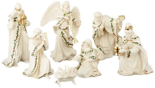 Nativity Lenox (Lenox Holiday Nativity, Set of 7 (Holy Family, Three Kings, Angel))