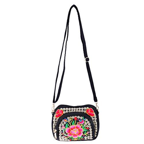 Borsa di donna etnica tracolla 4 a Handbag ricamata Sharprepublic rwTqfYrO7x