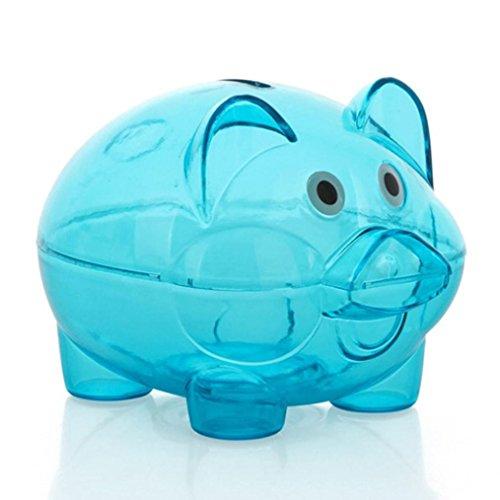 Piggy Bank,G-real Piggy Bank Money Box Saving Coins Cash Fun Gift Plastic Pig Safe Transparent Kid