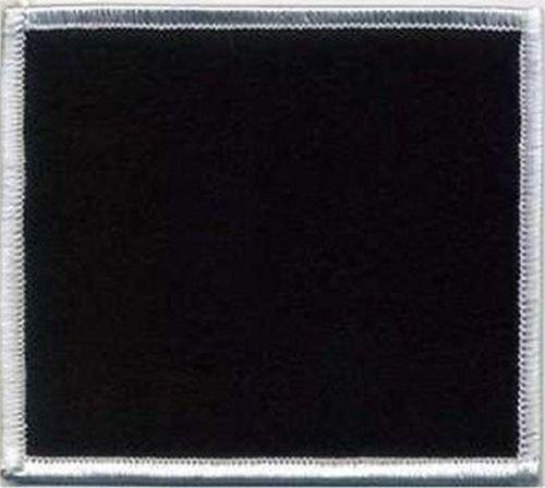 Blank Embroidered Patch 3x3.5 Black Background White Border Biker MC ()