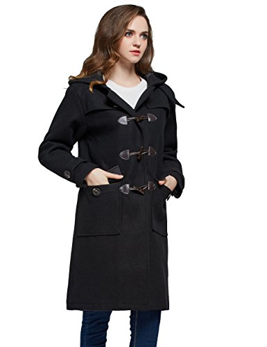 Femme Duffle coat Noir Mia Manteau Camii xUTqwABT
