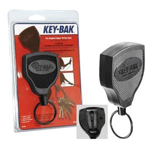 KEY-BAK SUPER48 Heavy Duty Retractable Key Holder, 48 - Work Key Clip