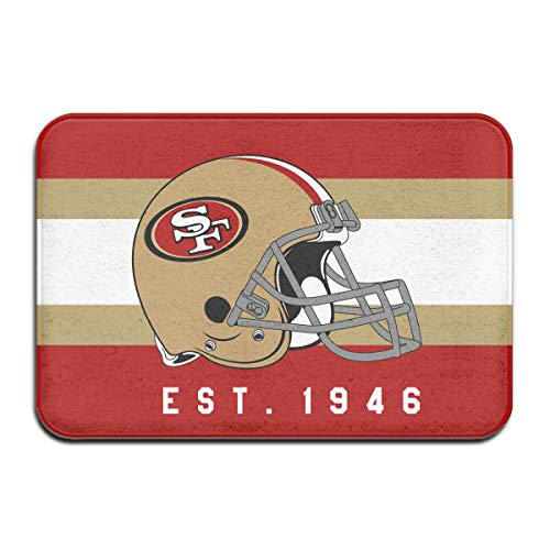 San Francisco 49ers Door Mat - Jacoci Custom San Francisco 49ers Doormats Non Slip Heavy Floor Door Mats Rugs Bahroom Decor Standard Size 15.7 X 23.6 Inches