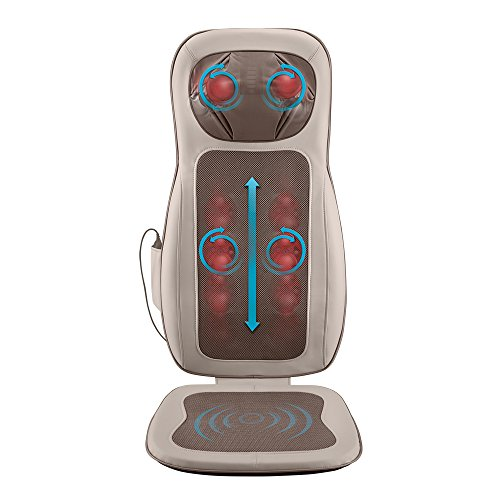 HoMedics Pro Performance Back Massage Cushion with Subtle Heat | Intense Shiatsu Neck & Back Massage with Vibration, Kneading & Programmable Controller