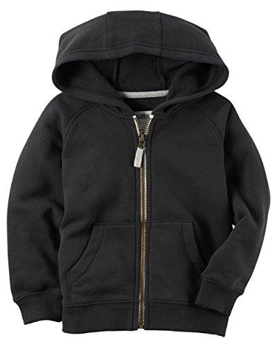(Carters Boys Classic Fleece Zip-Up Hoodie with Pockets (3T, Black))