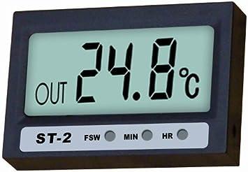 RELOJ DIGITAL TERMÓMETRO ST-2 PARA VENTANA MOTO COCHE: Amazon.es: Electrónica