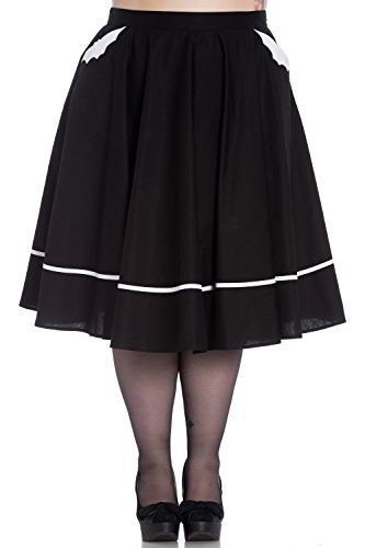 Hell Bunny 50's Bat Black Swing Skirt (Bunny Skirt)