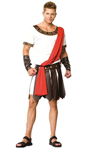 Dongya Men's Costume Warriors Ancient Rome General Cosplay Costume