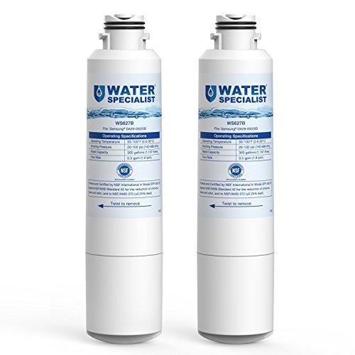 Waterspecialist DA29-00020B Replacement Refrigerator Water Filter, Compatible with Samsung HAF-CIN, HAF-CIN/EXP, DA29-00020A/B, DA97-08006A, RF28HMEDBSR, RF4287HARS RF263TEAESG RH22H9010SR (Pack of 2)