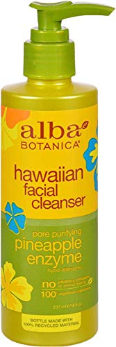 Alba Botanica Hawaiian Facial Cleanser, Pore Purifying Pineapple Enzyme, 8 Oz