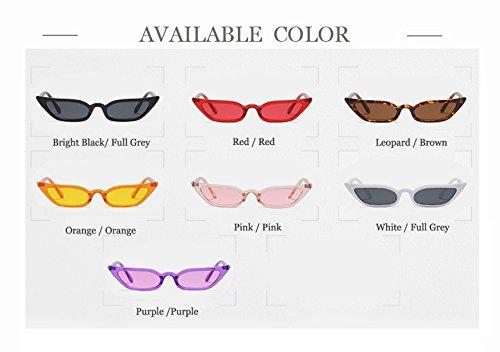 de p¨²rpura Mujer de color se transparente de con marca de Hip marco lente ora Hykis Sun Fashion cuadrado gafas Hop de de caramelo UV400 Las naranja vidrios sol los 46tqxdg