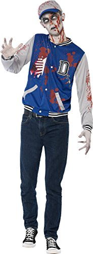 Smiffy's Teen Boys' Zombie Jock Costume, Jacket and Hat, Halloween, Size S, Ages 14+,  44219