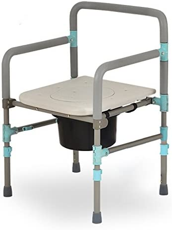 Cqq Badestuhl Stuhl Badesessel WC-Sitz klappbar Schwangere Frauen Alter Mann Töpfchen Stuhl Robust wasserdicht Kohlenstoffstahl