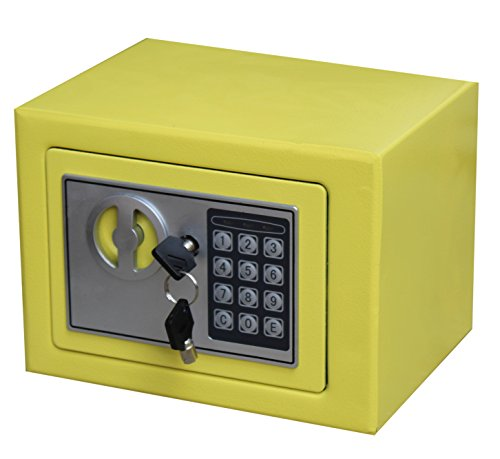 Royal Brands Square Electronic Gun Safe Money Jewelry Passport Home Hotel Office (Yellow)