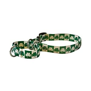 "Shamrock Martingale Control Dog Collar - Size Medium 20"" Long - Made In The USA"