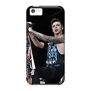 Shock Absorption Hard Phone Cases For Iphone 5c With Customized Lifelike Black Veil Brides Band BVB Series EricHowe