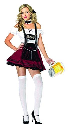 German Fraulein Costumes (RoseSummer Halloween Flirty Fraulein Oktoberfest Outfit Fancy Dress Sexy Costume)